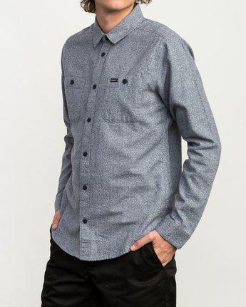 2 Twisted Long Sleeve Button-Up Shirt Blue M553QRTW RVCA