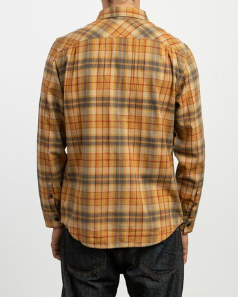 3 Watt Plaid Long Sleeve Flannel Green M553TRWF RVCA