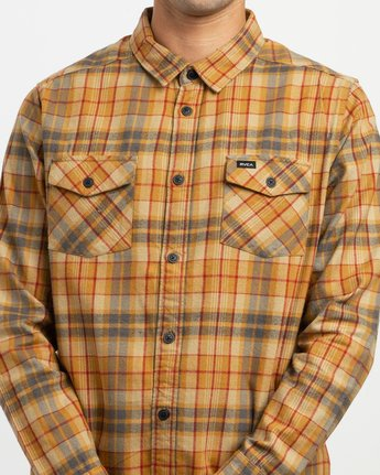 4 Watt Plaid Long Sleeve Flannel Green M553TRWF RVCA