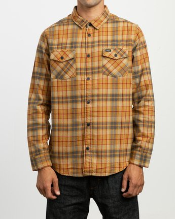 1 Watt Plaid Long Sleeve Flannel Green M553TRWF RVCA