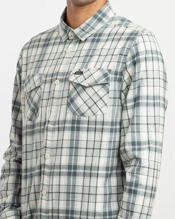 4 Watt Plaid Long Sleeve Flannel Multicolor M553TRWF RVCA