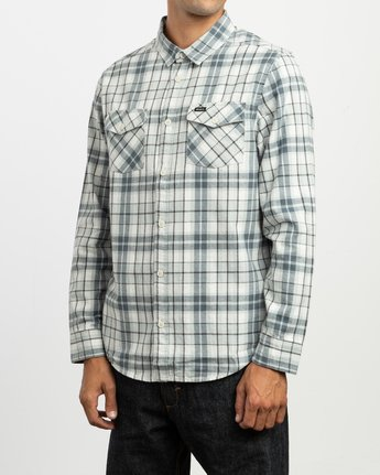 2 Watt Plaid Long Sleeve Flannel Multicolor M553TRWF RVCA