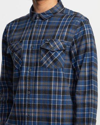 5 Watt Plaid Long Sleeve Flannel Blue M553TRWF RVCA