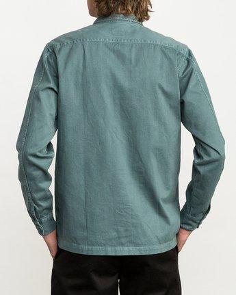 3 Curren Caples All Day Shirt Green M555QRAL RVCA
