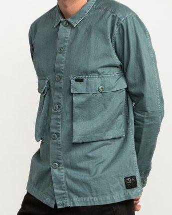 4 Curren Caples All Day Shirt Green M555QRAL RVCA
