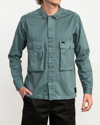 1 Curren Caples All Day Shirt Green M555QRAL RVCA