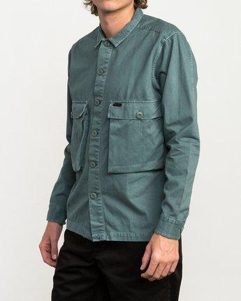 2 Curren Caples All Day Shirt Green M555QRAL RVCA