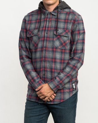 3 Christian Fletcher Good Hombre Flannel Grey M560QRGO RVCA