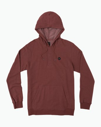 0 Lupo Fleece Hoodie Red M601QRLP RVCA