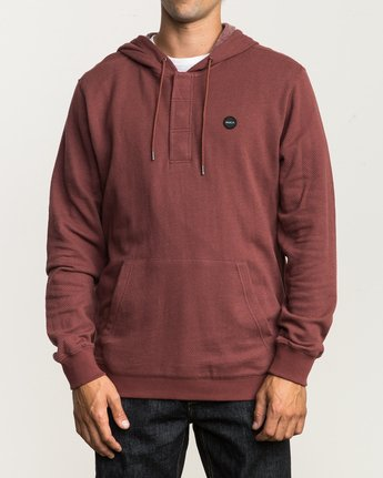 1 Lupo Fleece Hoodie Red M601QRLP RVCA