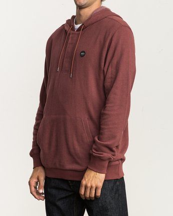 3 Lupo Fleece Hoodie Red M601QRLP RVCA
