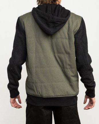 3 Grip It Puffer Jacket Green M602QRGT RVCA