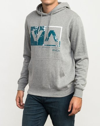 2 Reflection Box Hoodie Grey M602QRRB RVCA
