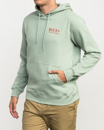 3 Squig Hoodie Green M602QRSP RVCA