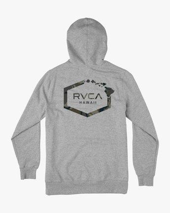 0 Island Hex Fleece Hoodie Grey M602SRIS RVCA