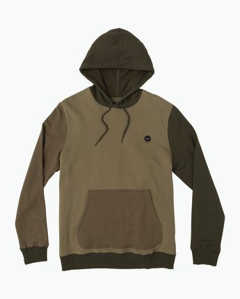 0 Ruddy Color Blocked Hoodie Green M605QRRD RVCA