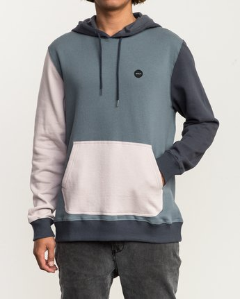 2 Ruddy Color Blocked Hoodie Blue M605QRRD RVCA
