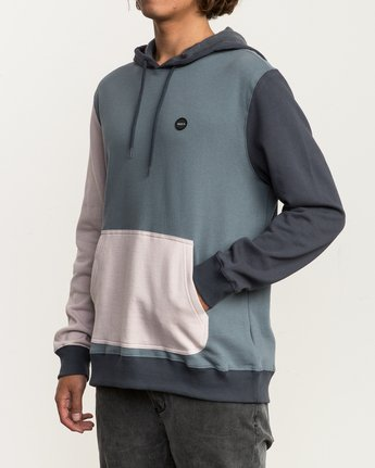 3 Ruddy Color Blocked Hoodie Blue M605QRRD RVCA