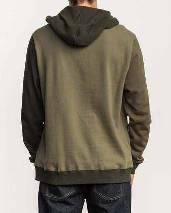3 Ruddy Color Blocked Hoodie Green M605QRRD RVCA