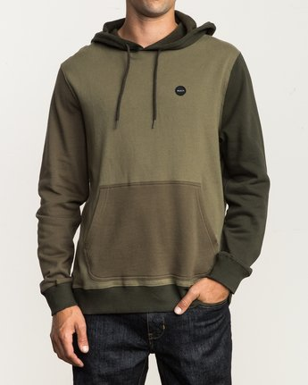 1 Ruddy Color Blocked Hoodie Green M605QRRD RVCA