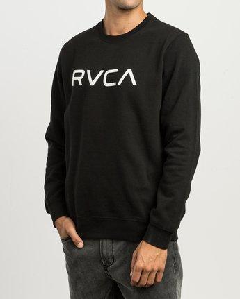 2 BIG RVCA CREW FLEECE Black M622SRBE RVCA