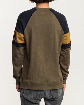3 Benny Colorblocked Sweatshirt Green M640SRBC RVCA