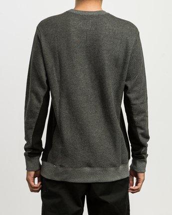 3 Milo Colorblocked Sweatshirt Black M645SRMS RVCA