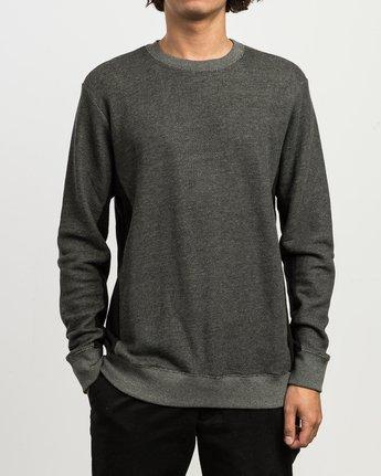 1 Milo Colorblocked Sweatshirt Black M645SRMS RVCA