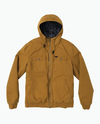 0 Hooded Bomber II Jacket Brown M703QRHB RVCA