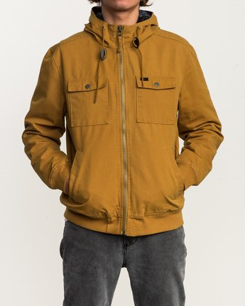 2 Hooded Bomber II Jacket Brown M703QRHB RVCA
