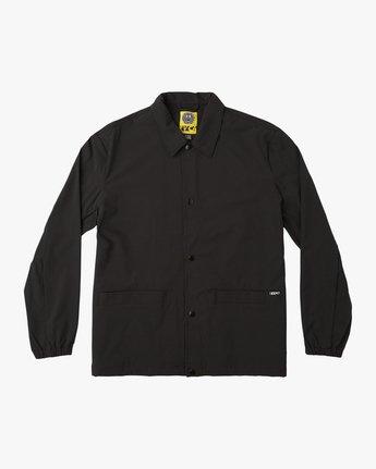 0 Stretch Me Straight Coaches Jacket Black M704QRST RVCA