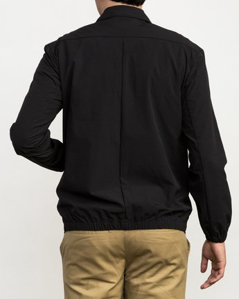 3 Stretch Me Straight Coaches Jacket Black M704QRST RVCA