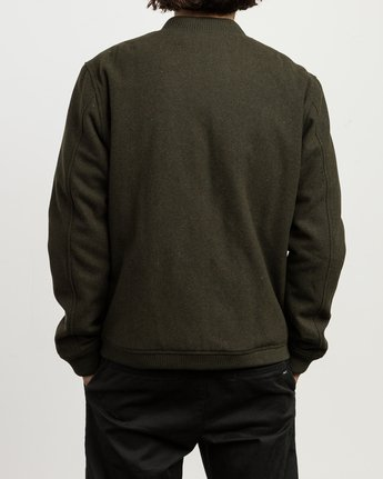 5 Collective Wool Bomber Jacket Green M704SRVO RVCA