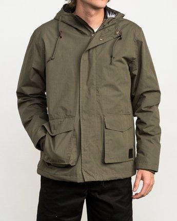 2 Puffer Parka Jacket Green M705QRPU RVCA