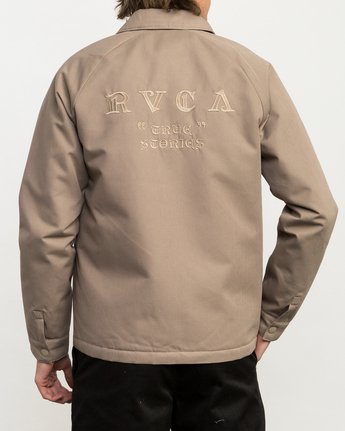 4 JeanJean Coach Of The Year Jacket Green M707QRCY RVCA