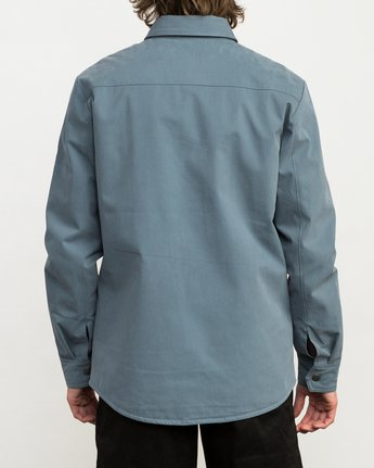 4 Utility Shirt Jacket Blue M708QRUS RVCA