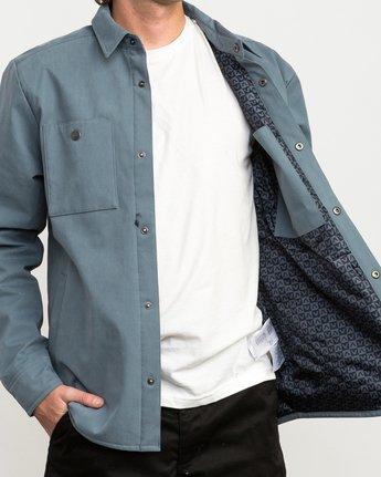 5 Utility Shirt Jacket Blue M708QRUS RVCA