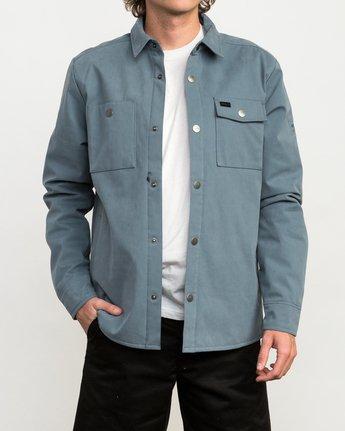 1 Utility Shirt Jacket Blue M708QRUS RVCA