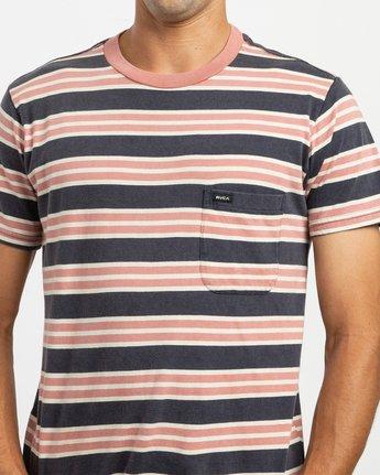 5 Lucas Striped Knit T-Shirt Blue M901TRLS RVCA