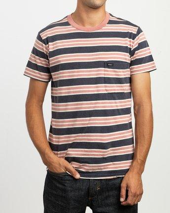 2 Lucas Striped Knit T-Shirt Blue M901TRLS RVCA