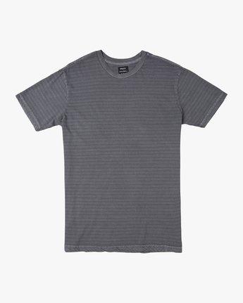 0 Automatic Striped Knit T-Shirt Black M905TRCS RVCA