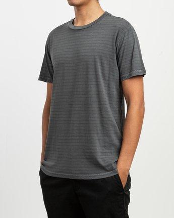 2 Automatic Striped Knit T-Shirt Black M905TRCS RVCA