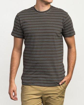 1 Curren Caples Benson Striped T-Shirt Black M908QRBS RVCA