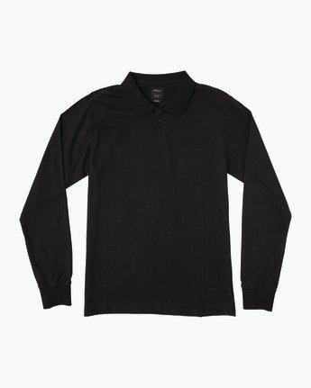 0 Hi Grade Long Sleeve Polo Black M951SRHP RVCA