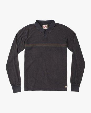 0 Andrew Reynolds Long Sleeve Polo Shirt Grey M954QRAP RVCA