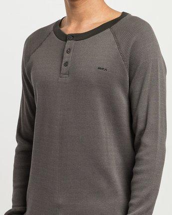 4 Moorside Thermal Henley Shirt Black M954SRMT RVCA