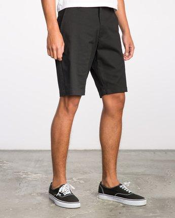 6 Week-End Stretch Shorts Black MC202WKS RVCA
