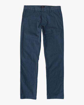 4 Week-end Stretch Pants Blue MC303WST RVCA