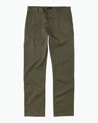 6 Week-end Stretch Pants Green MC303WST RVCA