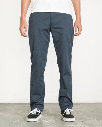 1 Week-end Stretch Pants Blue MC303WST RVCA